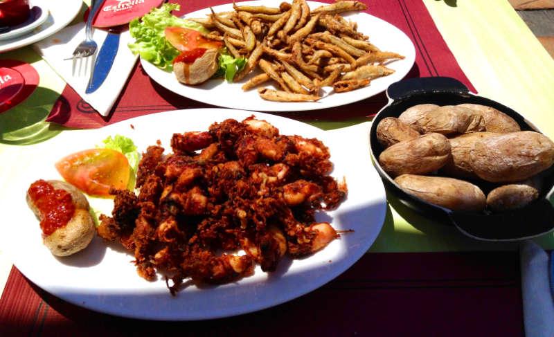 Mojo Kartoffeln und Fisch
