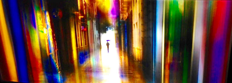 LED-Wandbild